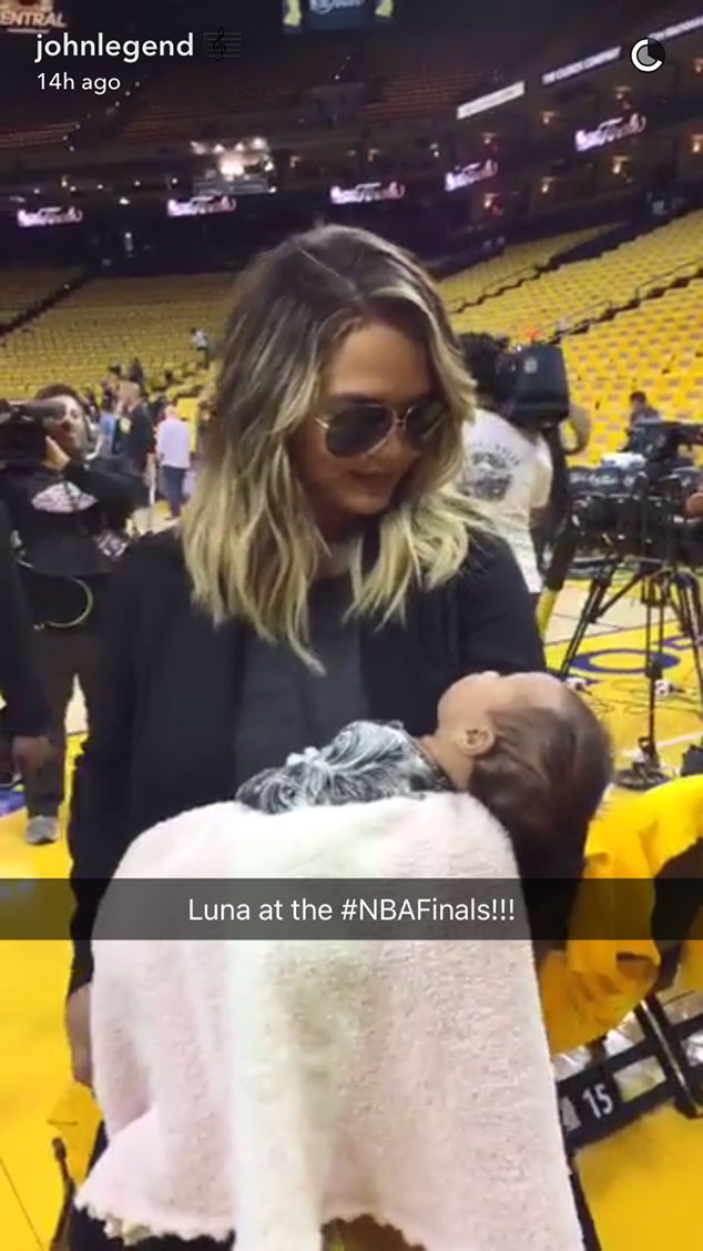 Chrissy Teigen, Breastfeeding, NBA Basketball Game