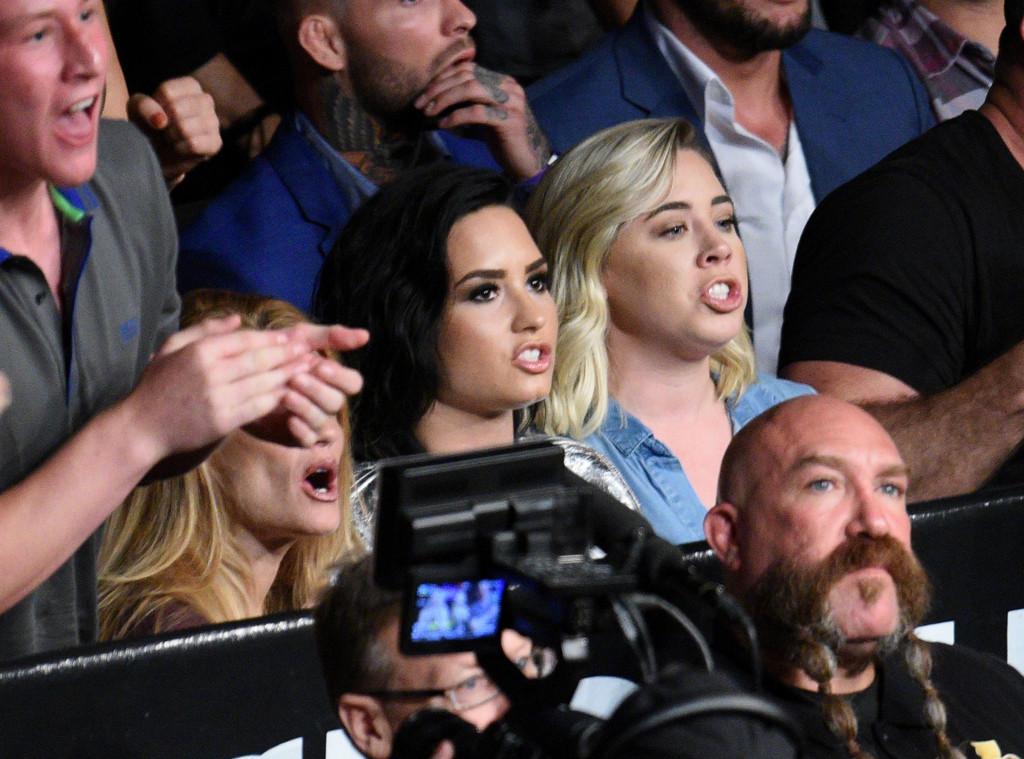 Demi Lovato, UFC Fight, Celebrity MMA Fans