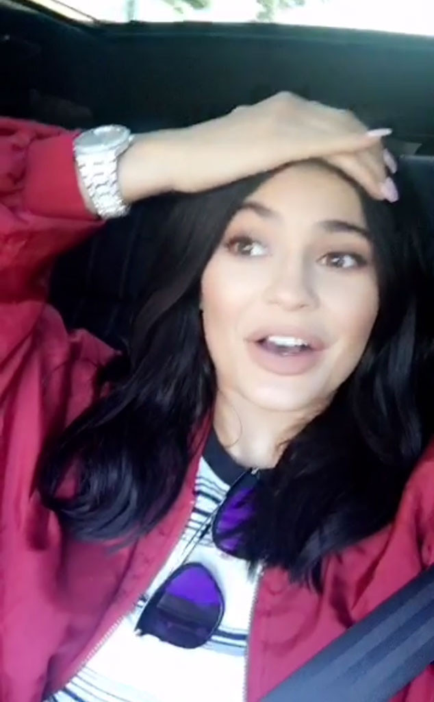Kylie Jenner, Calabasas Fire, Snapchat