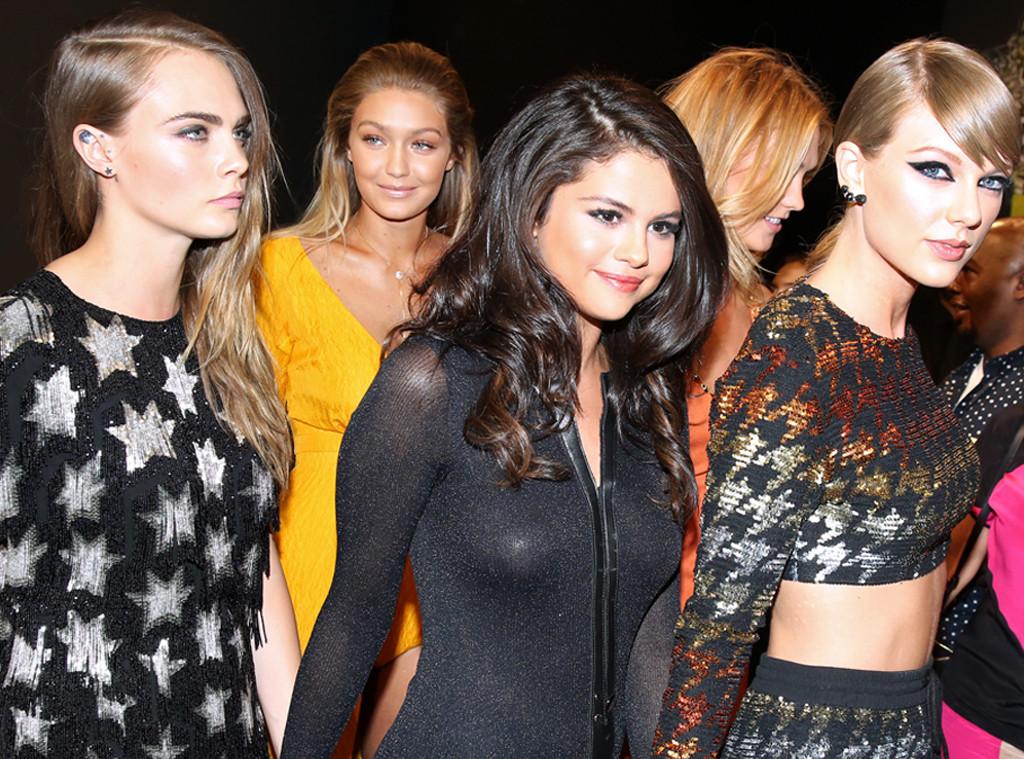 Gigi Hadid, Taylor Swift, Cara Delevingne, Selena Gomez