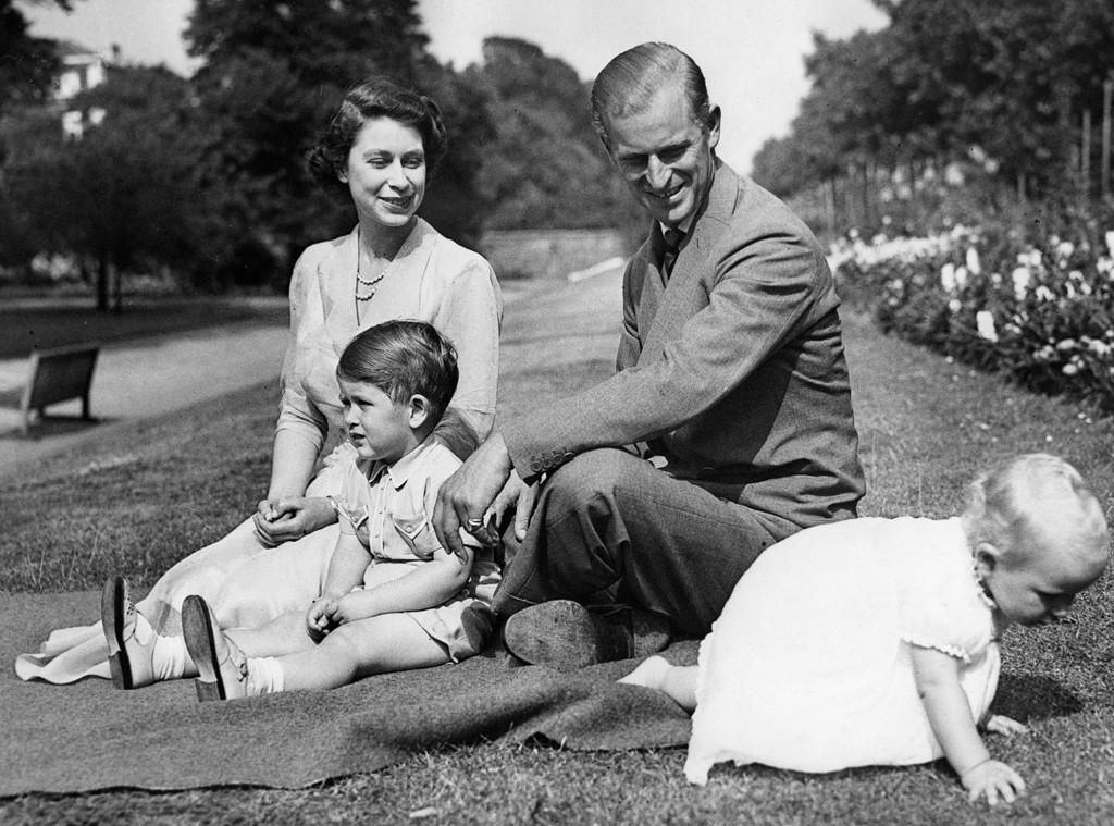 Queen Elizabeth, Prince Philip, Prince Charles, Princess Anne