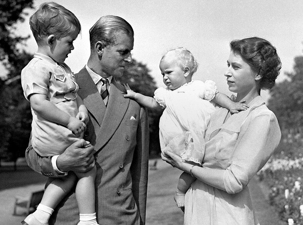Queen Elizabeth, Prince Philip, Prince Charles, Princess Anne