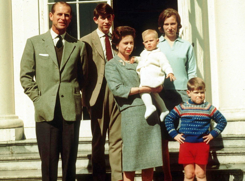 Queen Elizabeth, Prince Philip, Prince Charles, Princess Anne, Prince Edward