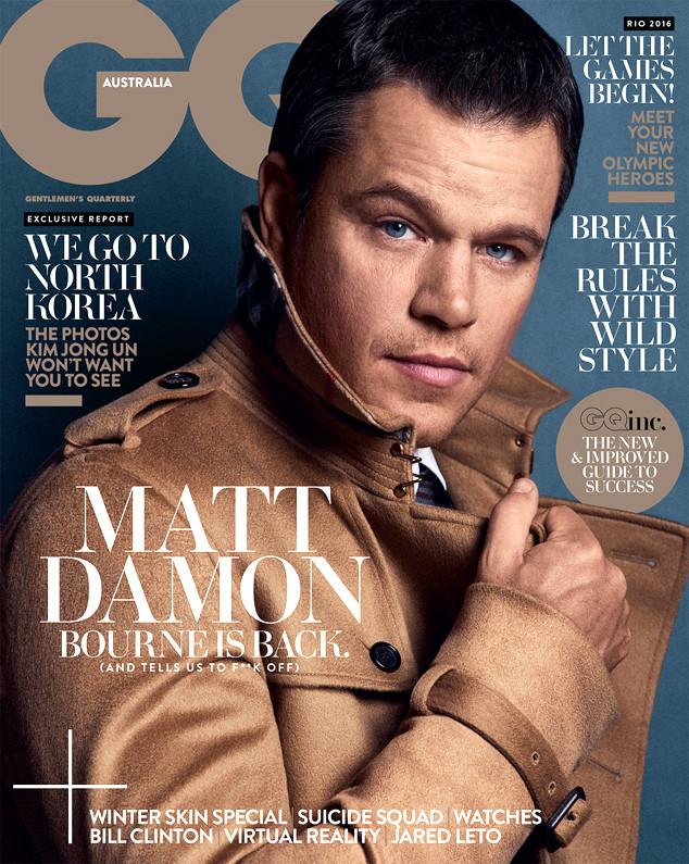 GQ Australia, Matt Damon