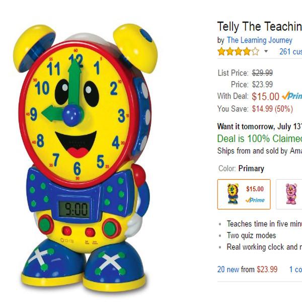 Amazon Prime Day, Clock