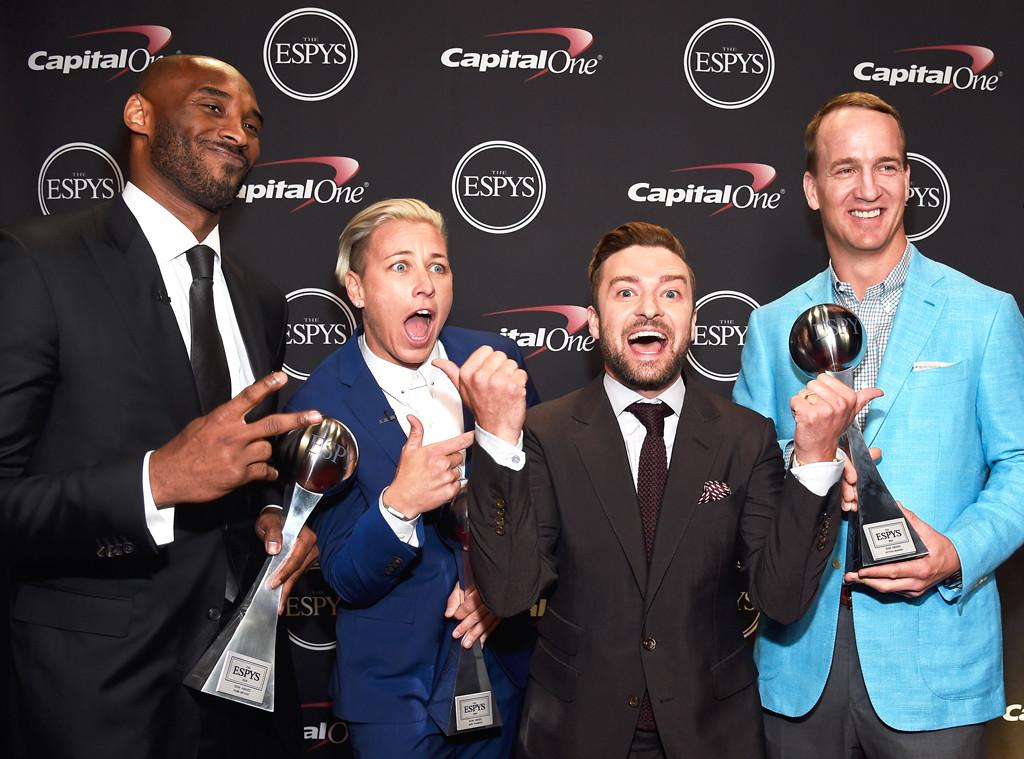 Kobe Bryant, Abby Wambach, Peyton Manning, Justin Timberlake, ESPY Awards 2016