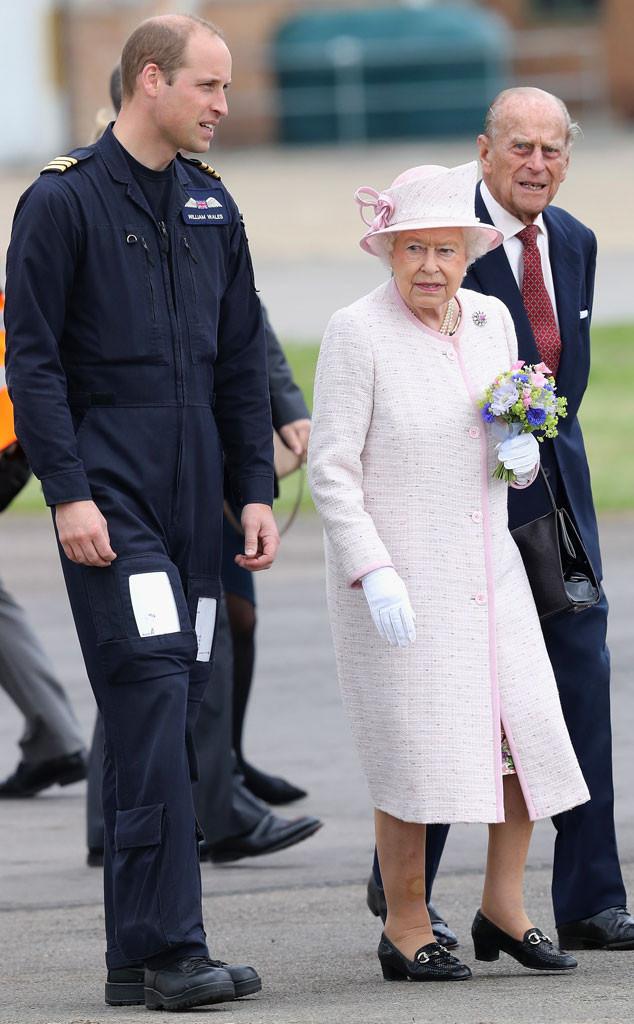 Queen Elizabeth, Prince WIlliam, Prince Philip