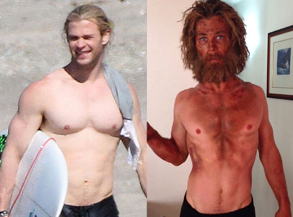 Chris Hemsworth, Heart of the Sea, Weight Loss or Weight Gain for Roles