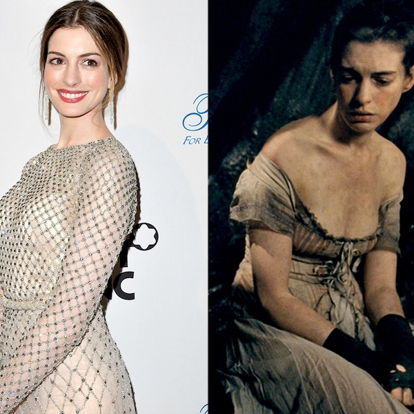 Anne Hathaway Now And Then: Anne Hathaway From Stars Who Gained Or Lost Weight For