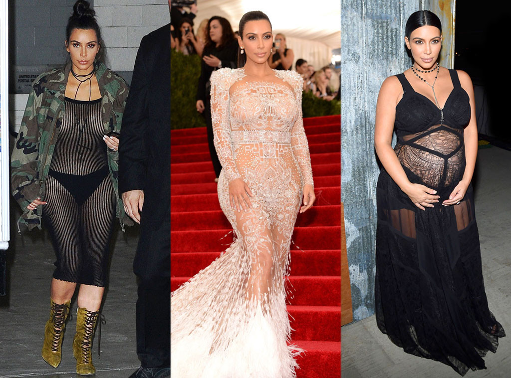 Kim K Loves See-Through Fashion: A History of Her Most
