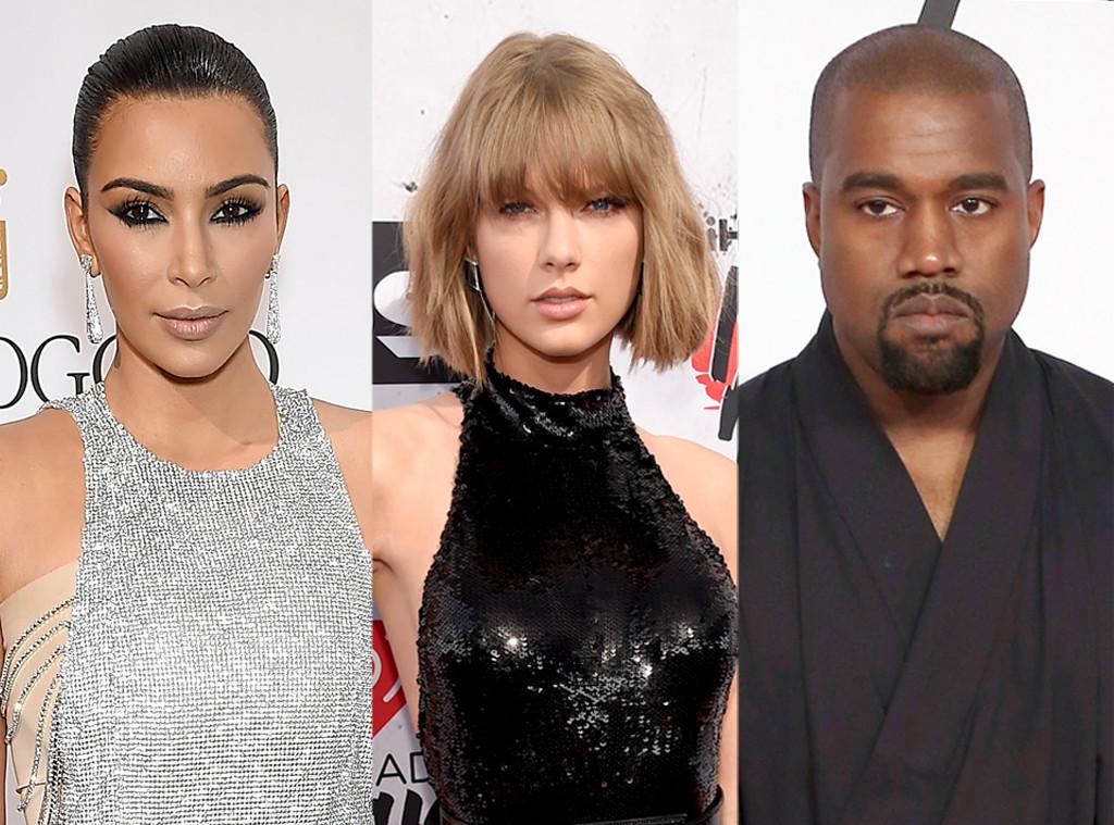 Kim Kardashian, Taylor Swift, Kanye West