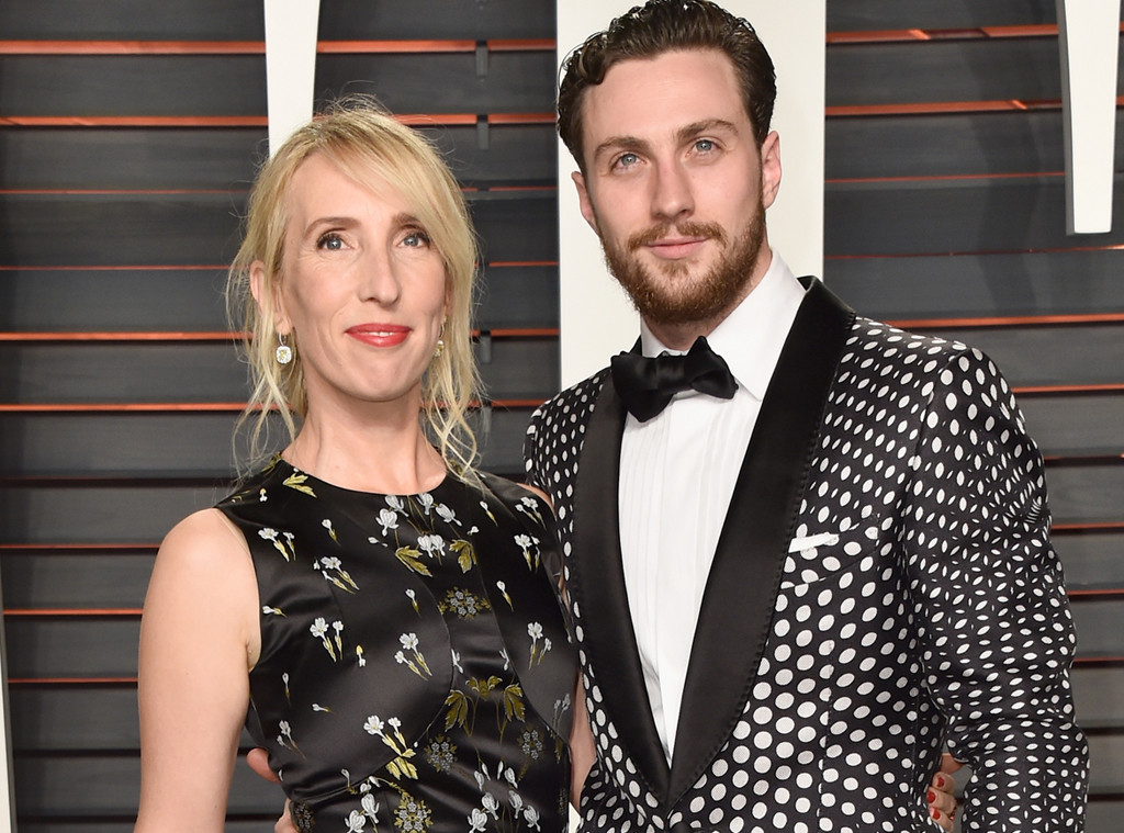 Sam Taylor-Johnson, Aaron Taylor-Johnson, Vanity Fair Oscars Party
