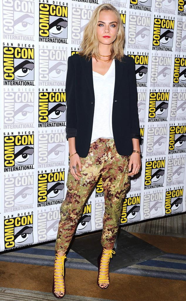 Cara Delevingne aparece com novo cabelo na Comic-Con 2016