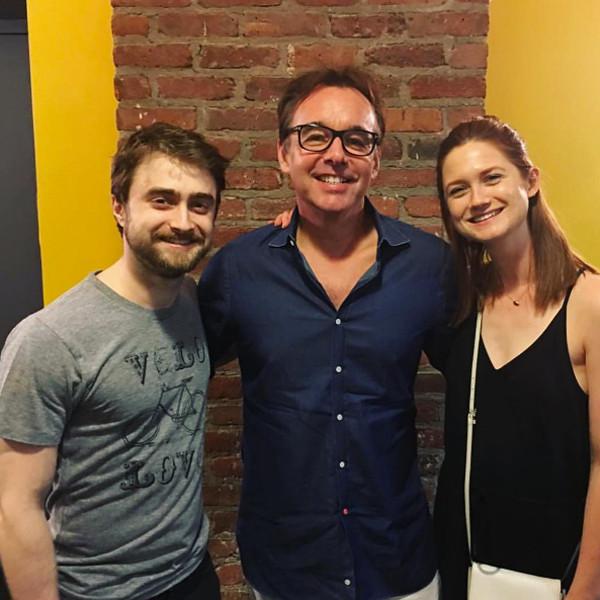 Daniel Radcliffe, Bonnie Wright, Chris Columbus