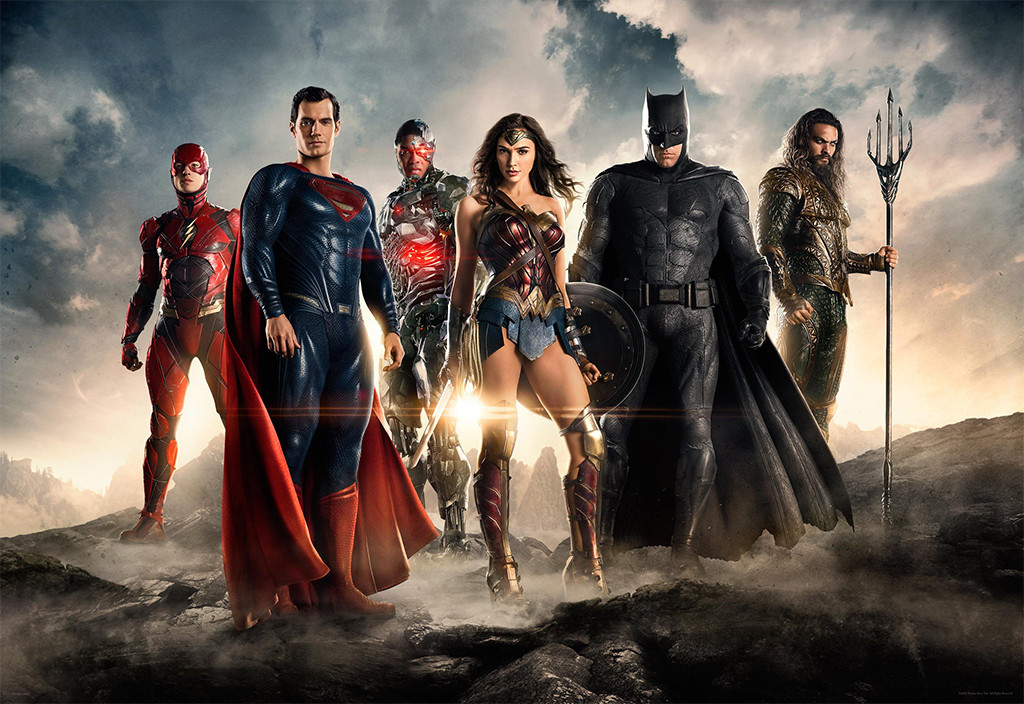 Ben Affleck, Gal Gadot, Ray Fisher, Ezra Miler, Henry Cavill, Jason Momoa, Justice League Movie
