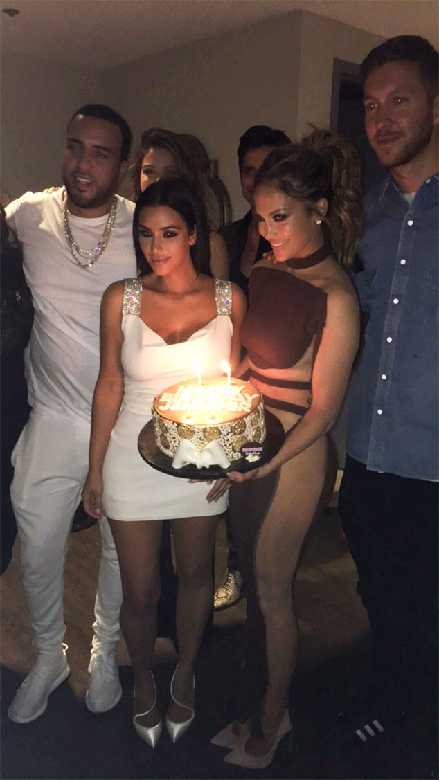 French Montana, Kim Kardashian, Jennifer Lopez, Calvin Harris