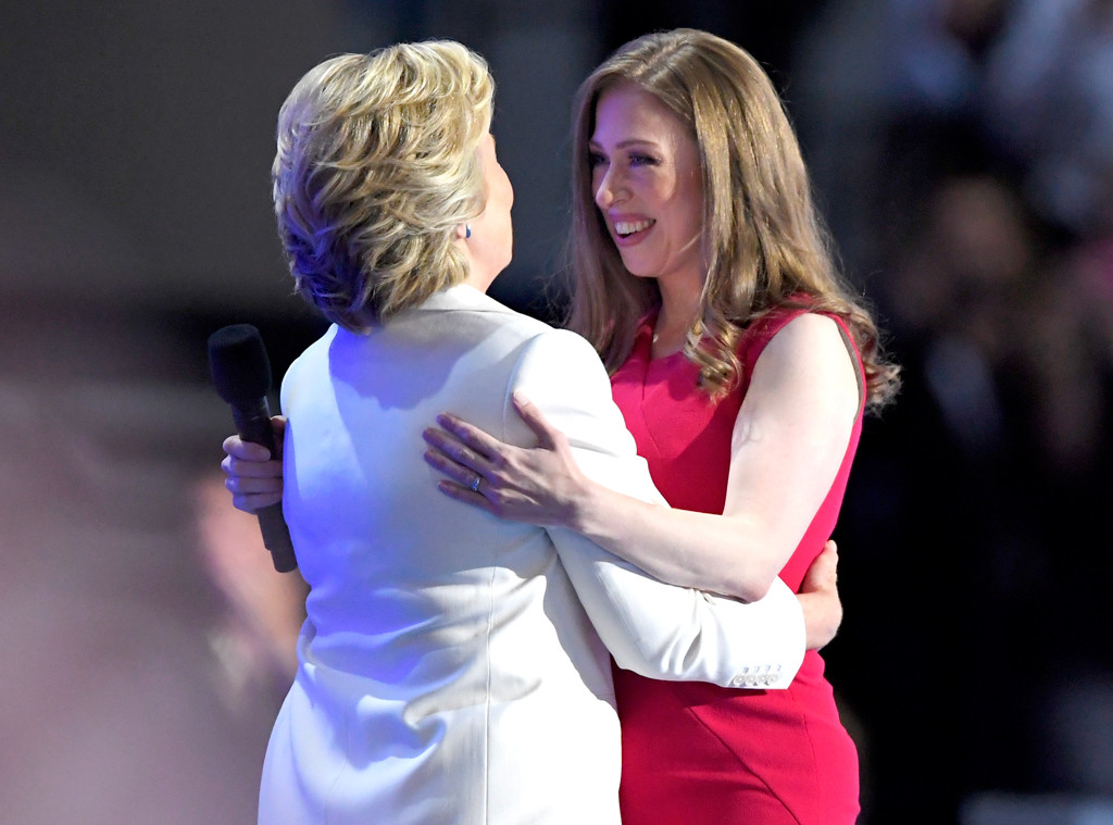 Hillary Clinton, Chelsea Clinton, Democratic National Convention 2016, DNC 2016