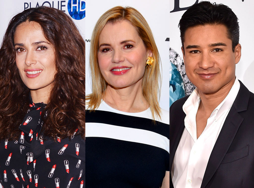From Geena Davis to Mario Lopez and Salma Hayek, All the Celebrities