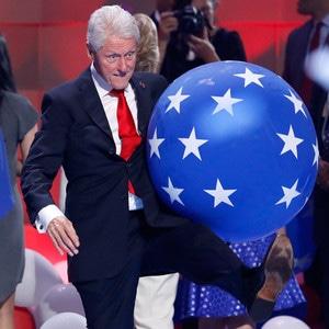 Bill Clinton, DNC, Balloons