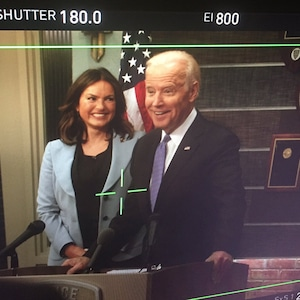 Joe Biden, Mariska Hargitay, Law and Order: SVU