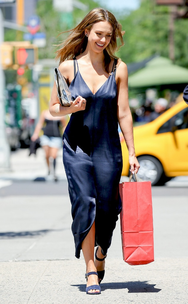 Little Black Slip From Jessica Albas Street Style  E News-9986
