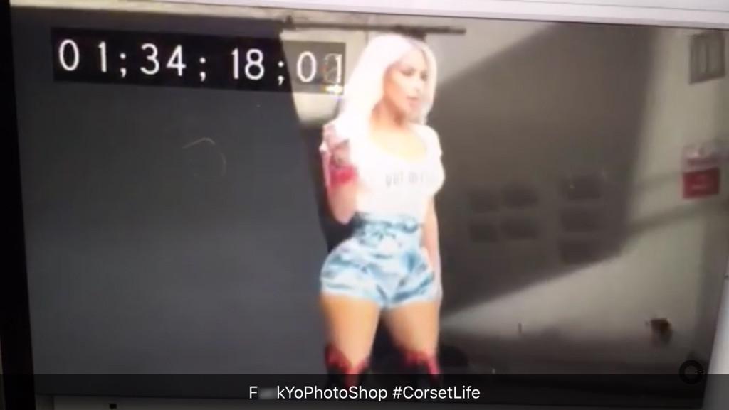 Kim Kardashian, Fergie ''M.I.L.F. $'' Video, Behind-the-Scenes-Snapchat Response