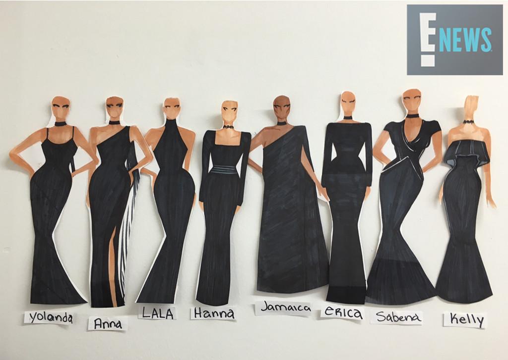 EXCLUSIVE: Ciara's bridesmaids sketch, Ciara, Russell Wilson