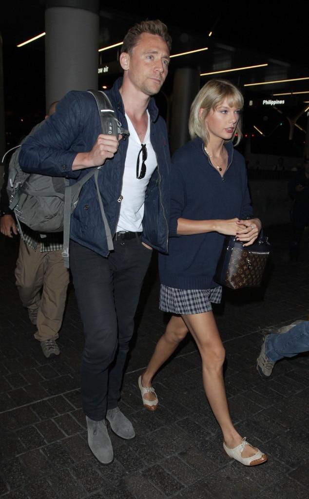 Taylor Swift, Tom Hiddleston, LAX