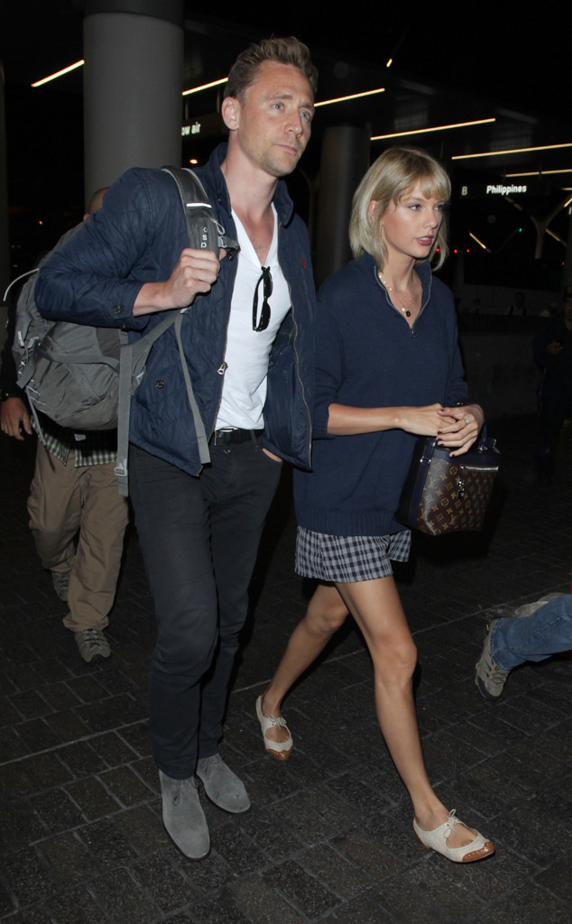 Taylor Swift, Tom Hiddleston, LAX
