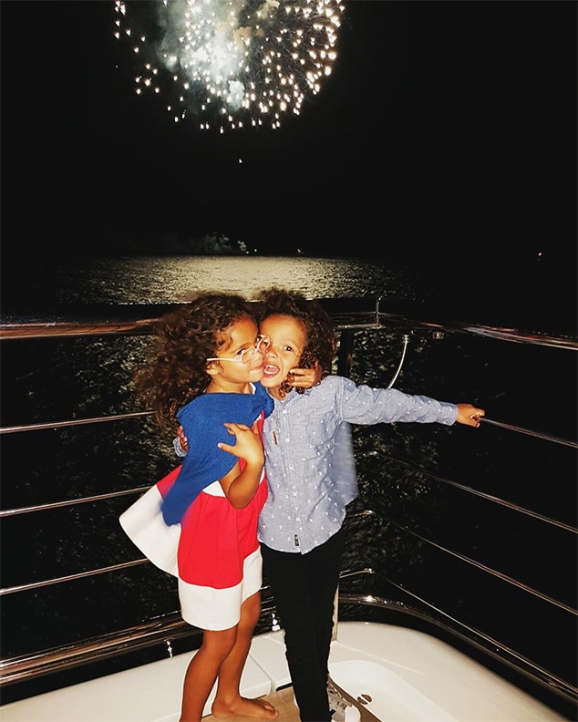 Mariah Carey, Twins Moroccan and Monroe, Yacht, Italy Vacation