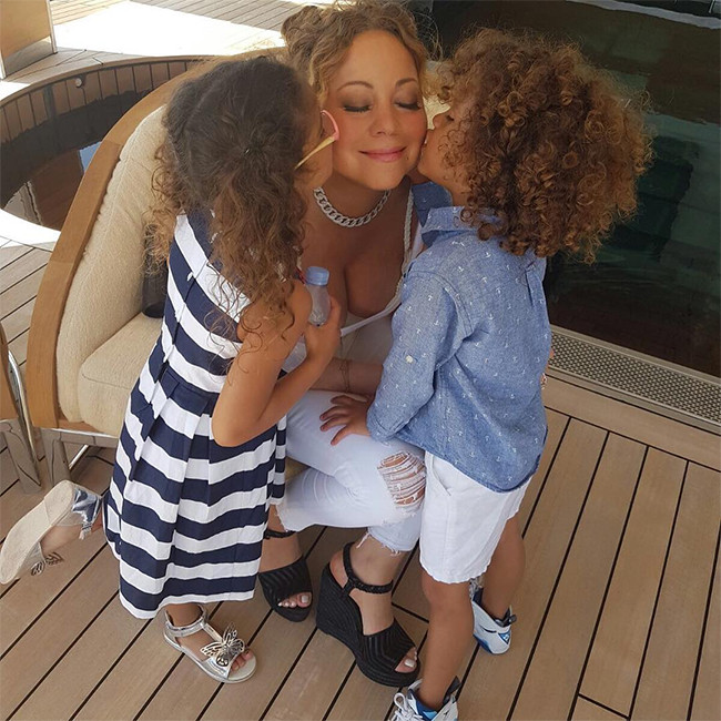 Mariah Carey, Twins Moroccan, Monroe, Yacht, Italy Vacation