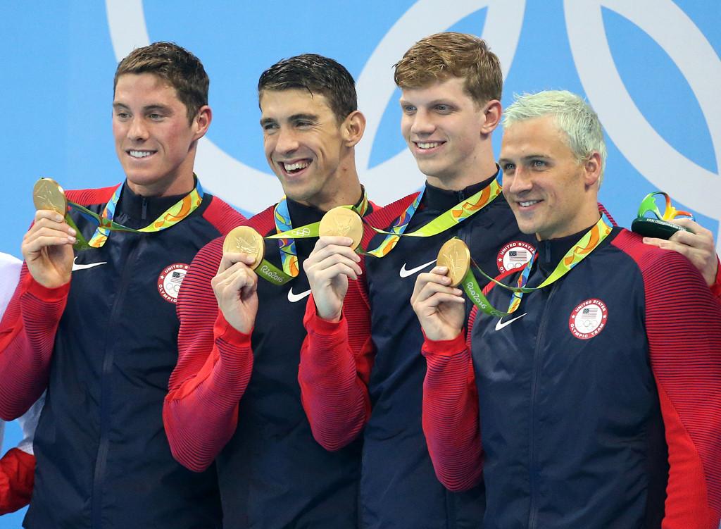 Conor Dwyer, Francis Haas, Ryan Lochte, Michael Phelps