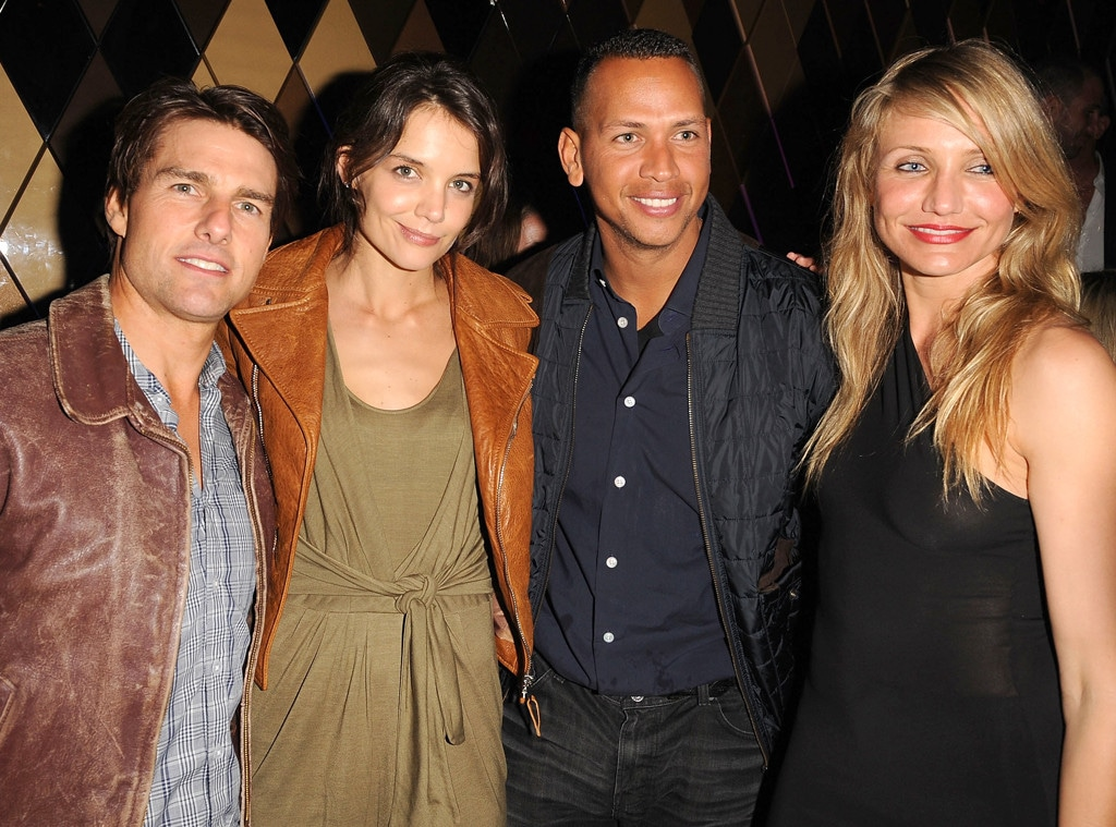 Tom Cruise, Katie Holmes, Alex Rodriguez, Cameron Diaz, 2010 Super Bowl Party