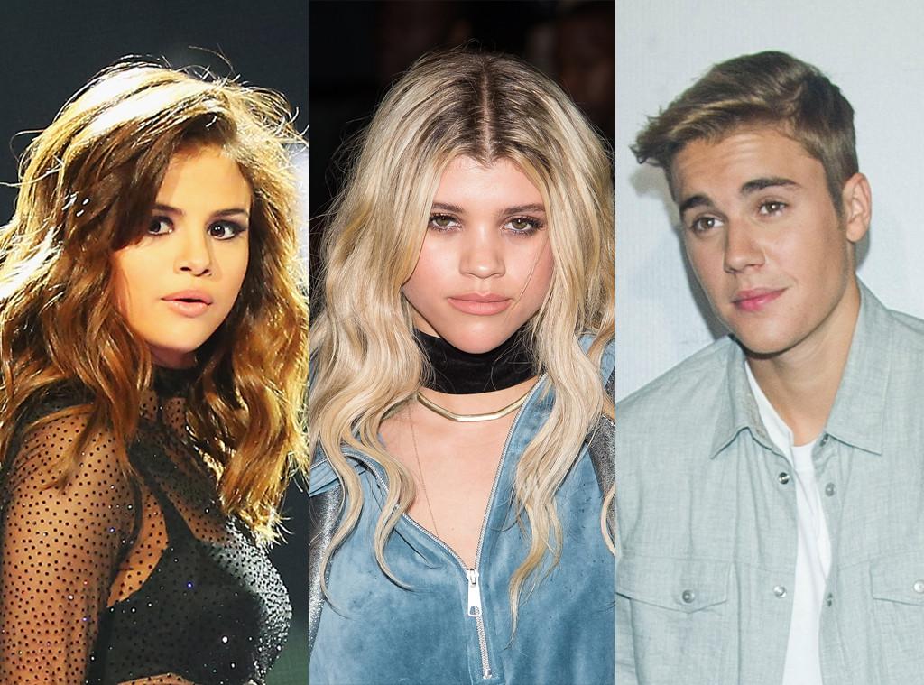 Selena Gomez, Sofia Richie, Justin Bieber