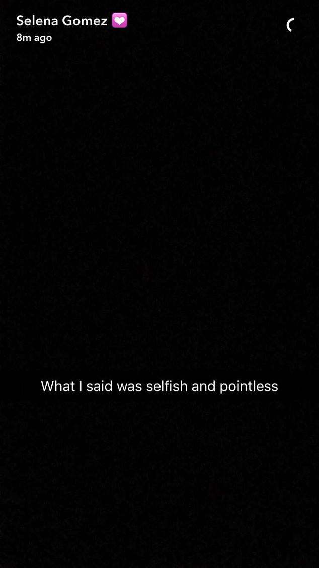 Selena Gomez, Snapchat