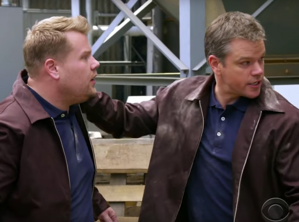 James Corden, Matt Damon, The Late Late Show