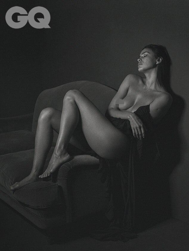 Supermodel Irina Shayk poses with a