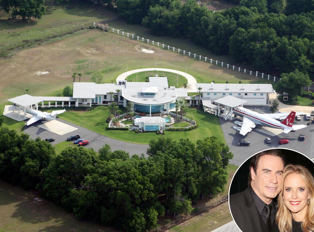 John Travolta, Kelly Preston, Ocala, Florida, Celeb Home