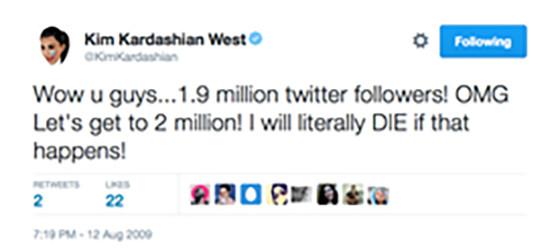 Kim Kardashian, 2009 Tweets