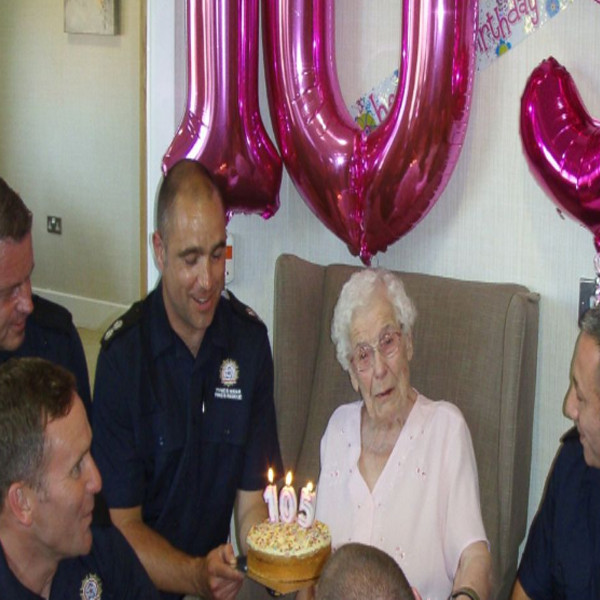 105 Year Old Woman Asks For Sexy Firefighters To Show Up At Her