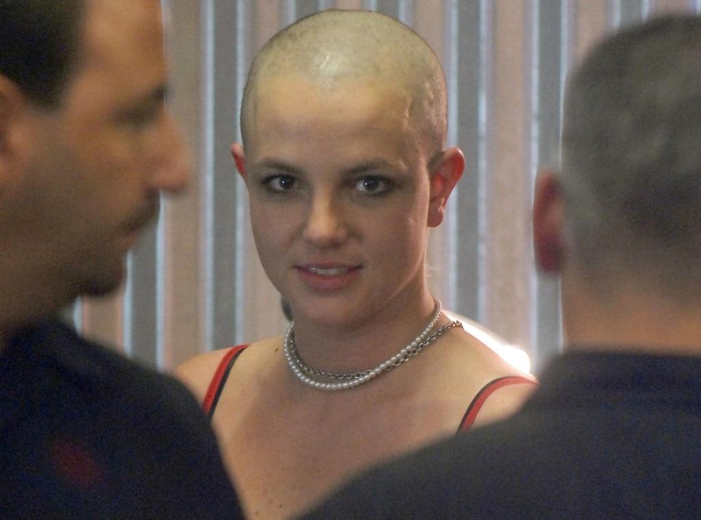 Brittneys head shaved