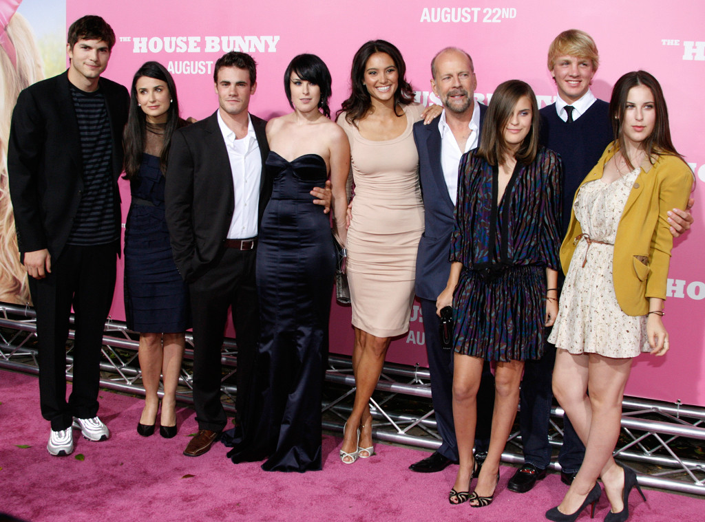 Ashton Kutcher, Demi Moore, Rumer Willis, Micah Alberti, Rumer Willis, Emma Heming, Bruce Willis, Lula Willis, Scout LaRue Willis