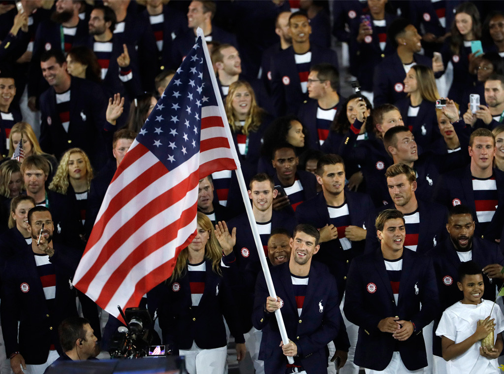 Opening Ceremony, Rio 2016, Olympics, Team USA, Michael Phelps