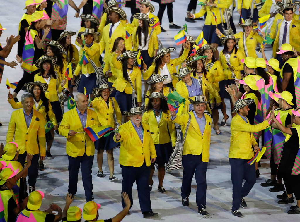 Opening Ceremony, Rio 2016, Olympics, Fashion, Colombia