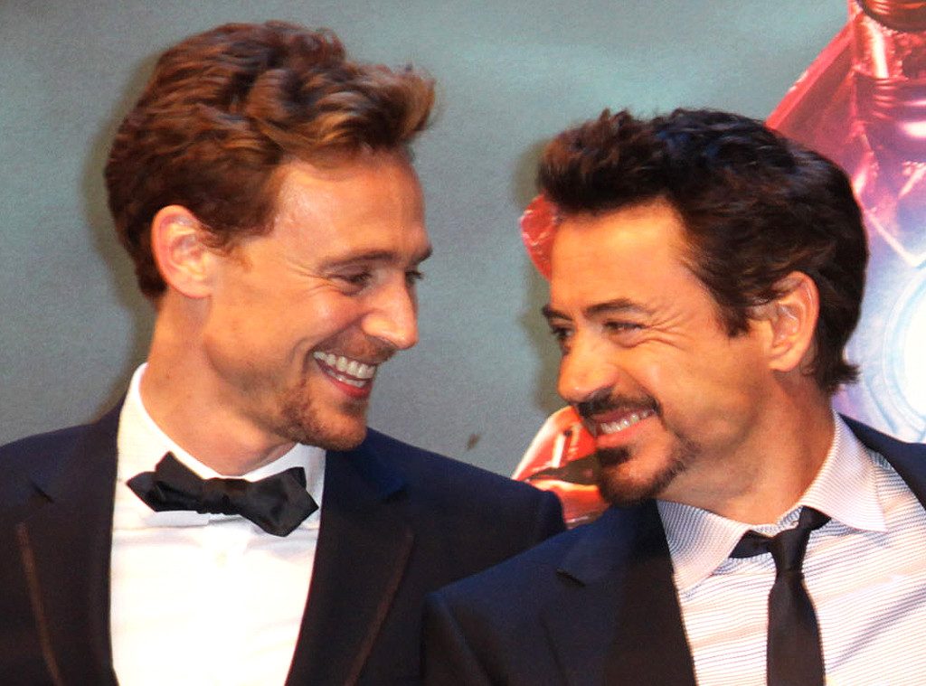 Tom Hiddleston, Robert Downey Jr.