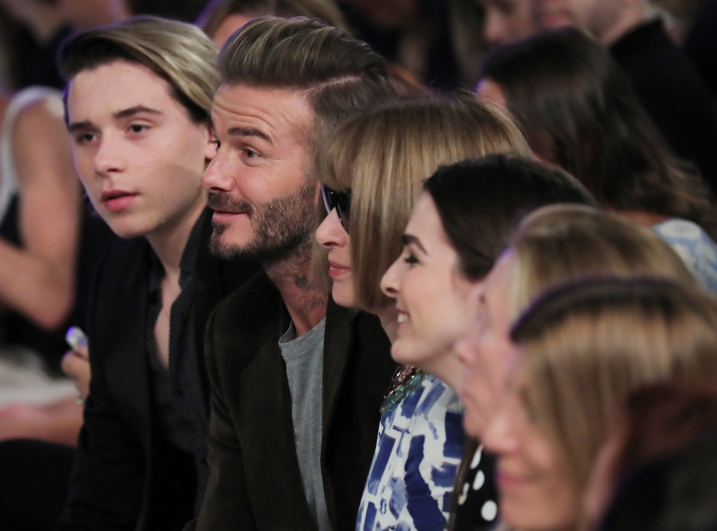 Brooklyn Beckham, David Beckham, Anna Wintour, NYFW 2016