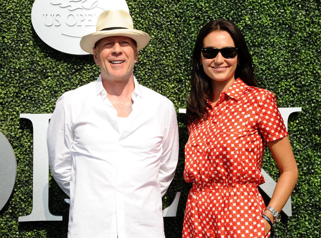 Bruce Willis, Emma Heming, U.S. Open