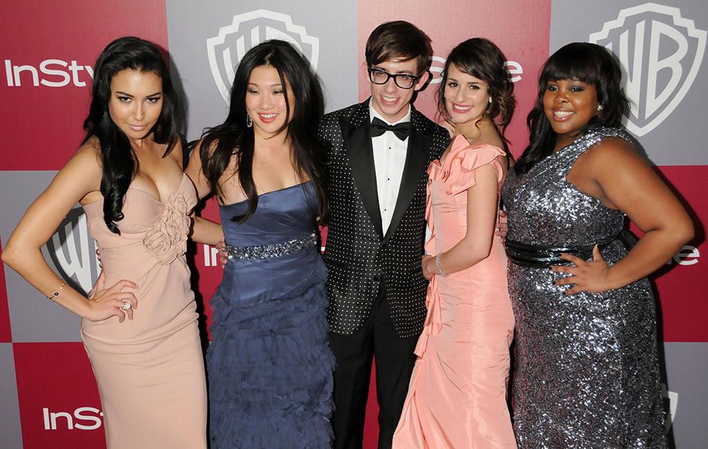 Naya Rivera, Lea Michele, Glee Cast, Red Carpet