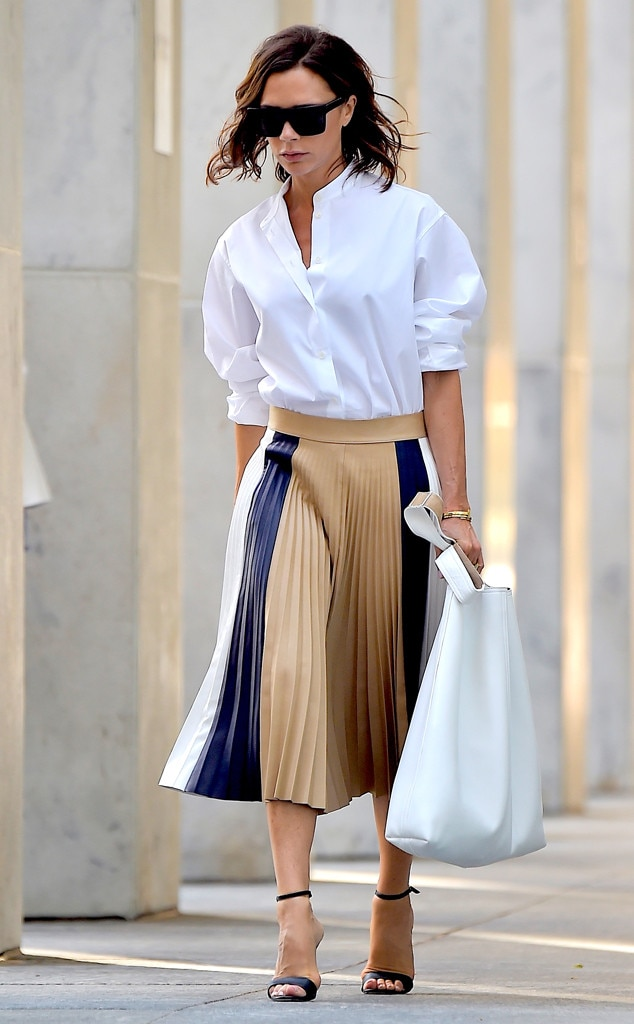 Victoria Beckham From Best Celeb Street Style From Nyfw