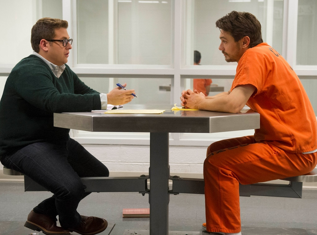 True Story  -  The 2015 mystery flick explores the relationship between convicted murderer Christian Longo ( James Franco ) and the man he pretends to be while hiding out from authorities, journalist Michael Finkel ( Jonah Hill ).